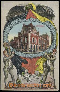 79515 - 1910 ŠUMPERK (Mähr. Schönberg.) - collage, German House;