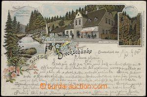 79521 -  POTŮČKY (Breitenbach) - litografická koláž Gruss aus d