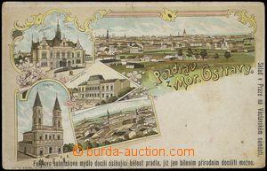 79524 - 1900 MORAVSKÁ OSTRAVA - litografická koláž, reklamní p�