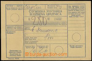 79549 - 1942 whole official order, on reverse postage due 2kuna, arr