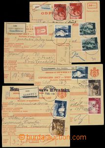 79561 - 1941-42 4x larger part of parcel card, posting post JASTREBA