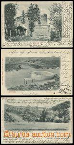 79565 - 1900 sestava 3ks tlačených pohlednic, BLANÍK, SYCHROV, KR