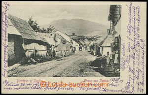 79567 - 1903 ZENICA -  B/W, view of street with obecenstvem, long ad