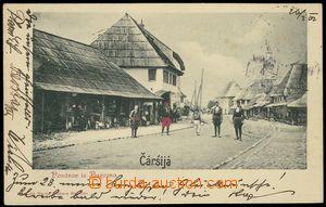 79568 - 1902 BUGOJNO -  B/W, view of street with obyvateli, long add