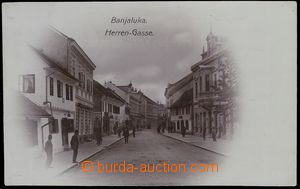 79571 - 1907 BANJA LUKA, real photo street, dark violet shade, used,