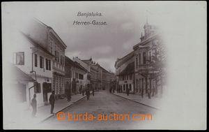 79571 - 1907 BANJA LUKA, reál foto ulice, tmavě fialový tón, pou