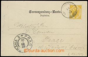 79581 - 1899 BOSNIA AND HERZEGOVINA  postcard with Mi.2, line perf 1