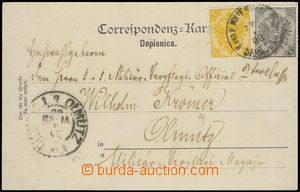 79582 - 1900 BOSNIA AND HERZEGOVINA  postcard franked with. mixed fr
