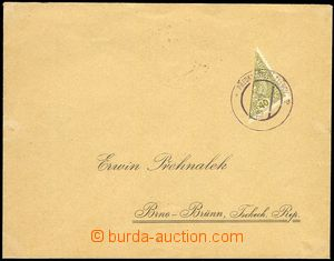 79594 - 1919 response letter franked with. bisected stmp Mi.194, Sta