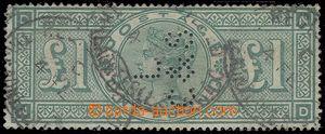 79599 - 1891 Mi.99; SG.212, Zelená libra, známka s perfinem L C &S