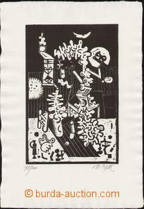 79600 - 1967 CIPÁR Miroslav (*1935): The Garden, author's print 98/