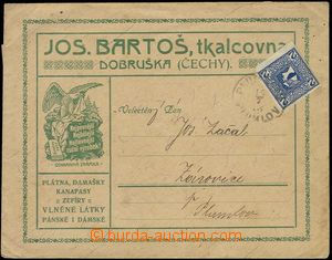 79630 - 1913 letter with additional-printing firm Joseph Bartoš, Do