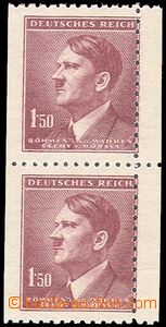 79633 - 1942 Pof.86, Hitler, vertical pair, R shift vertical perf to