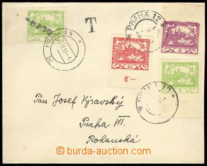 79641 - 1919 letter in the place, with Pof.2,3,5 CDS Prague 12/4.2.1