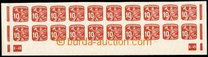 79655 - 1945 Pof.NV24, Listonoš 10h červená, celý dolní 20-pás