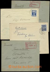 79665 - 1929-33 comp. 4 pcs of letters abroad, from that 2x R, vario