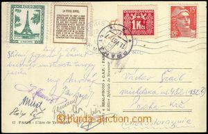 79668 - 1951 SPORTOVCI / BASKETBAL  pohlednice zaslaná z mistrovství