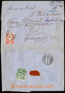 79678 - 1874 Reg letter to Pesti with 1. issue Hungarian 3 and 5 Kre