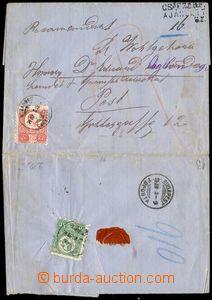 79678 - 1874 R dopis zaslaný do Pesti vyfr. zn. 1. emise uherské 3