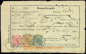 79681 - 1892 reply receipt on/for mailing in/at udané value 500 gol
