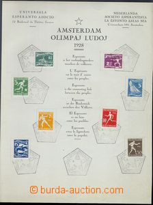79696 - 1928 commemorative sheet to Olympiad 1928 in/at Amsterdam wi