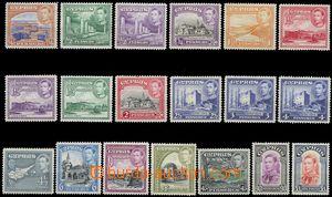 79704 - 1938 Mi.136-154 (SG.151-163) George VI. + krajinné motives,