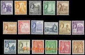 79710 - 1956 Mi.237-53 (SG.266-82) Alžběta II. + motivy, lehké st