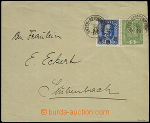 79716 - 1918 letter franked with Austrian stmp 5h crown Mi.186 + 24/