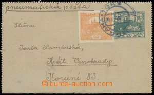 79719 - 1919 CZL1 uprated with stamp 60h Hradčany, CDS Prague  TGF.