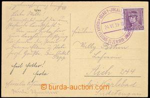 79738 - 1939 PR8, postcard Jihlava, franked with. Czechoslovak stamp