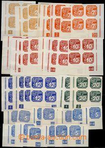 79761 - 1939 Pof.NV1-3, NV5-7, Pigeon-issue, selection of corner sta