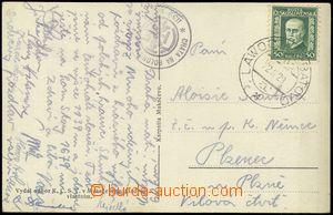 79777 - 1929 VLP č.1005 LAWOCZNE - BAŤOVO do Plzně, pohlednice za