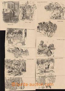 79854 - 1916 soubor 32ks pohlednic PP s vojenským motivem, každá