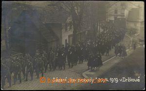 79862 - 1919 DRŽKOV - ceremonial sázení lime freedom; Us, bumped