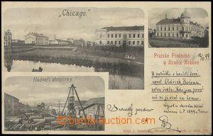 79863 - 1899 HRADEC KRÁLOVÉ - 3-views, suburb Chicago, machine-wor