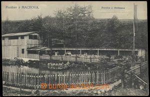 79865 - 1920 MACHOV - excursion restaurant, jezírko, people in boat