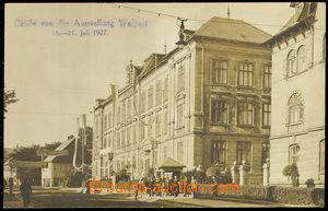 79869 - 1927 VEJPRTY (Weipert) - street, decorations, town exhibitio