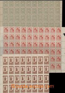 79880 - 1919 Pof.PP2B-4B, Siluety, ŘZ 13¾, velké části arch