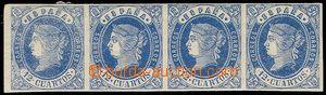 79897 - 1862 Mi.51, Izabela II. 4-páska, pěkné střihy, kat. 140�