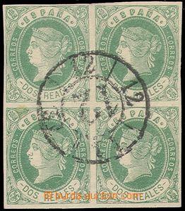 79900 - 1862 Mi.54, Izabela II., 4-blok, krásné střihy, kat .44�