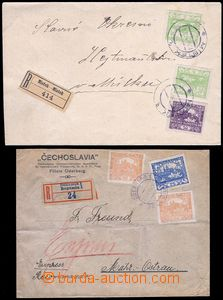 79910 - 1919 2x letter with franking Hradčany, 1x Reg and Express f