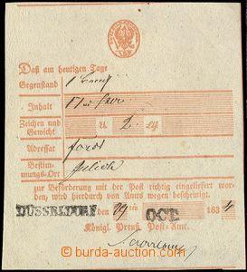 79918 - 1834 stvrzenka na balík pro lesní závod, řádkové DR D�