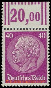 79926 - 1933 Mi.491, 40Pf Hindenburg, špičková value this issue,