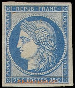 79933 - 1849 Mi.4, Ceres 25c blue, II. printing, on the reverse side