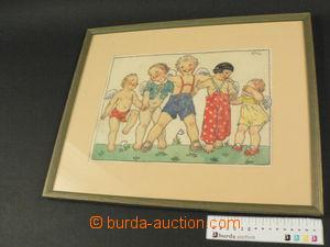79983 - 1942 FISCHEROVÁ-KVĚCHOVÁ Mary (1894–1984): Children, aq