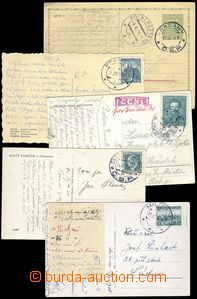 79991 - 1938 5x entire on/for mobilizované recipients, 4x postcard