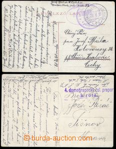 79996 - 1919-20 CARPATHIAN RUTHENIA  comp. 2 pcs of Ppc sent by FP,