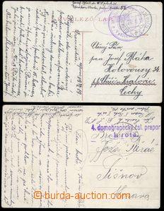 79996 - 1919-20 PODKARPATSKÁ RUS  sestava 2ks pohlednic zaslaných