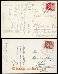79997 - 1921 2x postcard, 1x franked with. stmp issue Chainbreaker 5