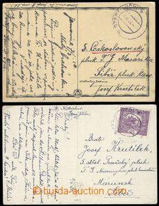 79998 - 1920 RUSKO, 2x pohlednice zaslaná na Sibíř příslušník